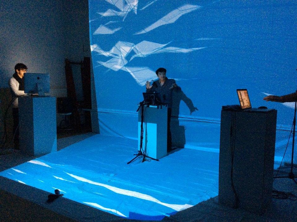 Junkai-Chen-Corentin_Clouet-Victor_Huguenin_Pour-peindre-un-concert-2_Transnumeriques_Mons2015_Transcultures